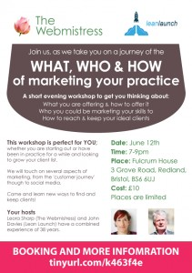 Marketing your practice June 12th